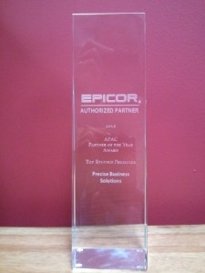 Precise wins Epicor APAC Partner of the Year Award 2012
