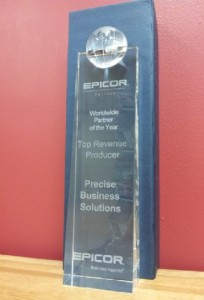 Precise Business Solutions Named Epicor's Worldwide Partner of the Year 2013