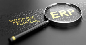 What is ERP - enterprise resource planning magnifying glass investigating the acronym